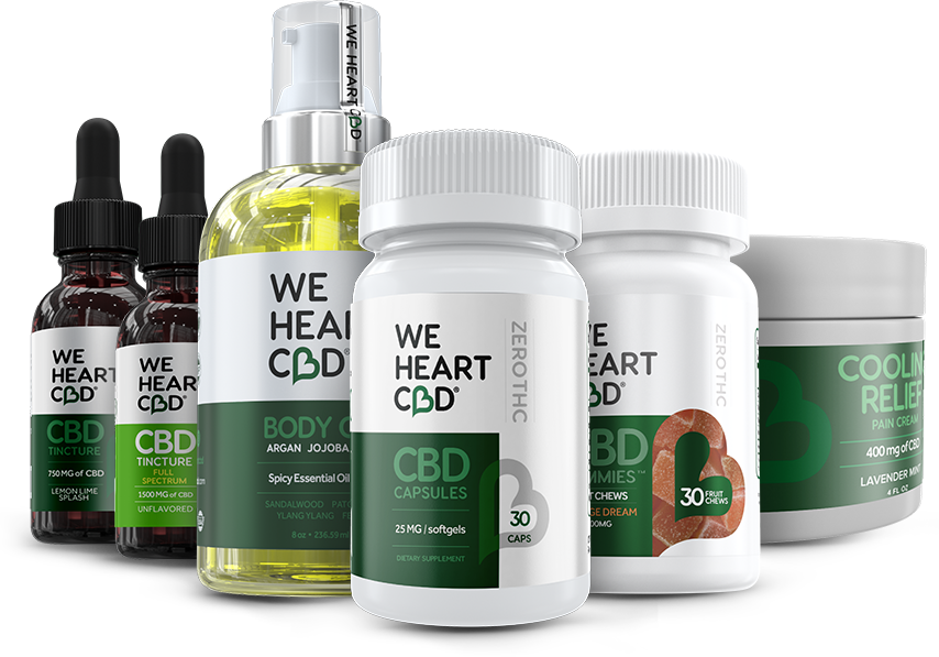 Pack of 3 We Heart CBD products