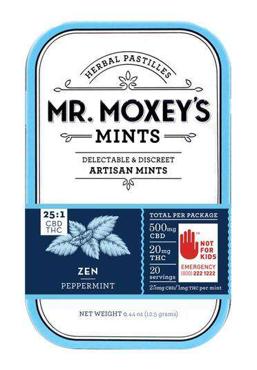 Mr. Moxeys Zen (20 pk) - 25 mg CBD/1mg THC