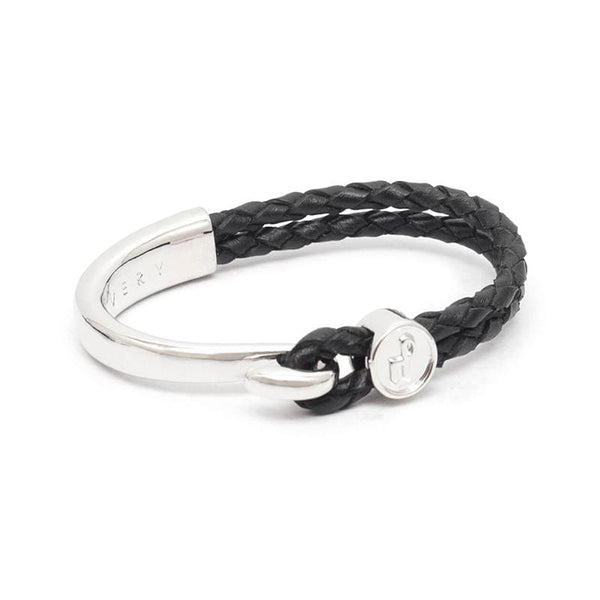 Braided Leather Cord Bracelet 勾扣編織手環 - 共兩款