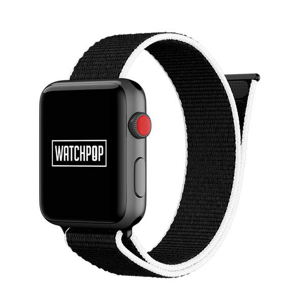 WATCHPOP Apple Watch 錶帶 - Orca (黑底白邊)