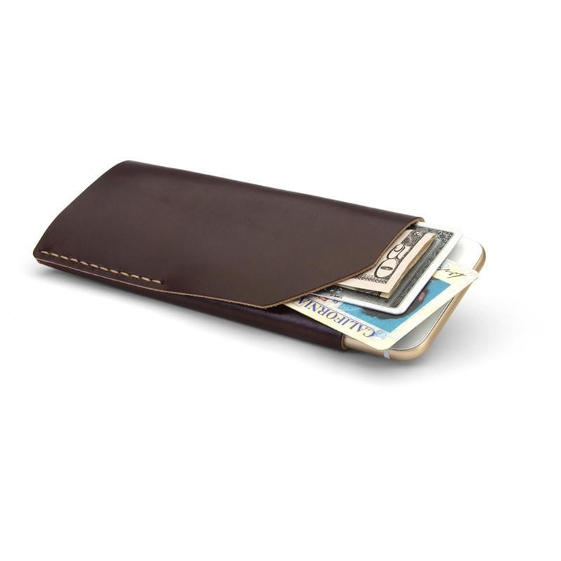 iPhone 6/ 6s Wallet 手機皮夾 - 暗紅色