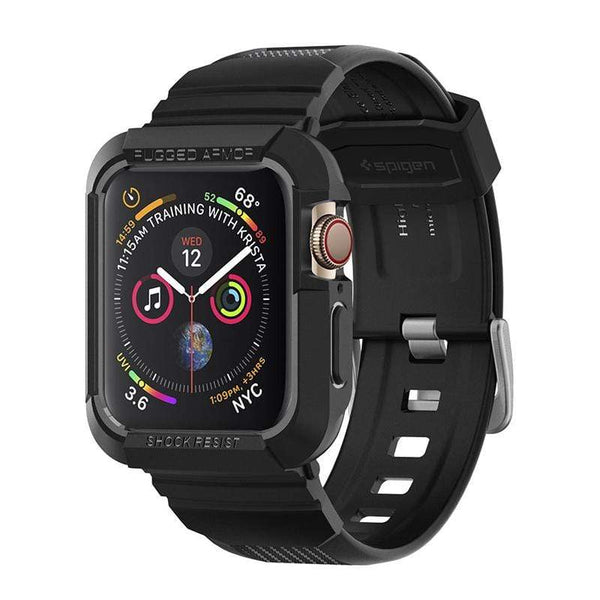 Apple Watch Series 4 (44mm) Rugged Armor Pro-防摔保護殼專業版-黑