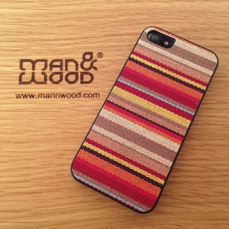 ikins系列 iPhone5保護殼hawaiian stripe - 黑邊