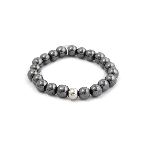 Glossy Surface 8MM - Stone Bracelet 8MM亮面串珠手環-黑膽石