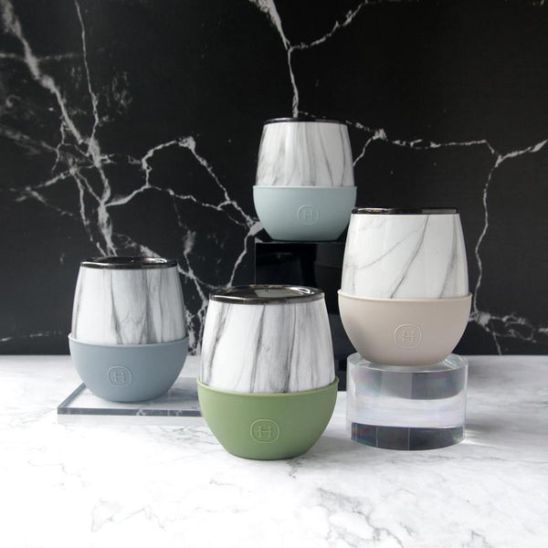Delicia 大理石蛋型杯4入組 | White Marble Tumblers (4pcs)