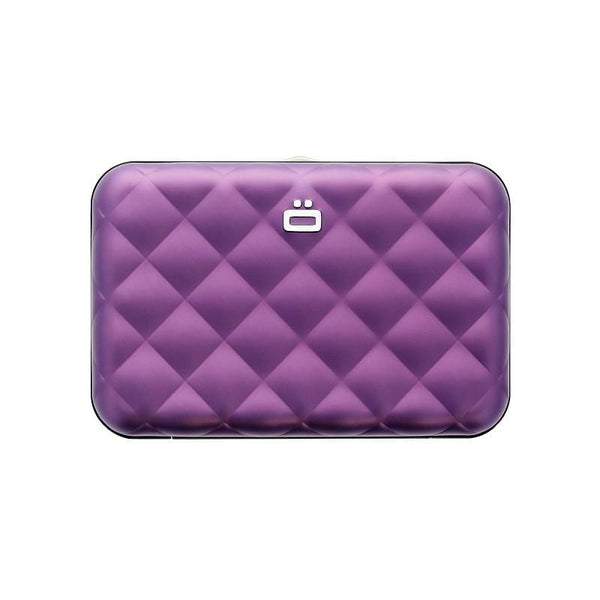 Quilted Button RFID安全防盜菱格紋卡匣-Purple 紫色