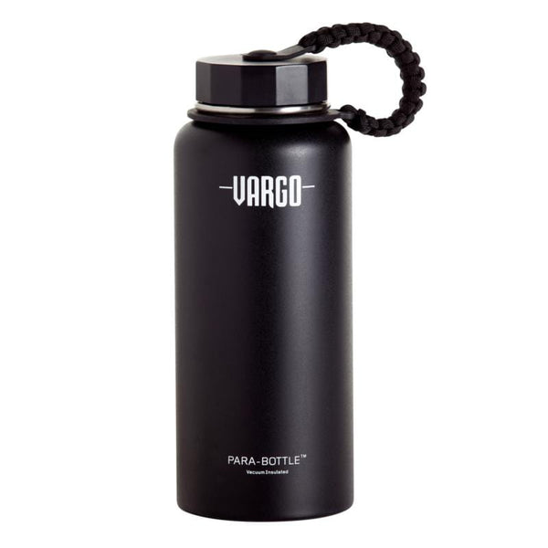 不鏽鋼製Para-Bottle 保溫水壺附傘繩(黑) insulated stainless steel para-bottle (black) T-461