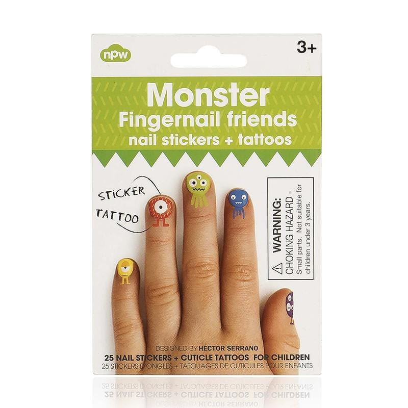 幼兒指甲貼 Fingernail & Cuticle tattoos - Monster
