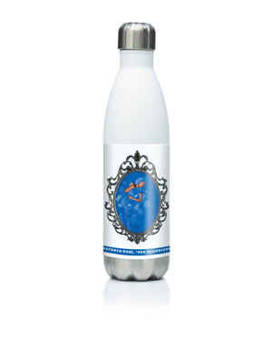 Reusable stainless steel water bottle Her Acquiescence by Kathryn Rose