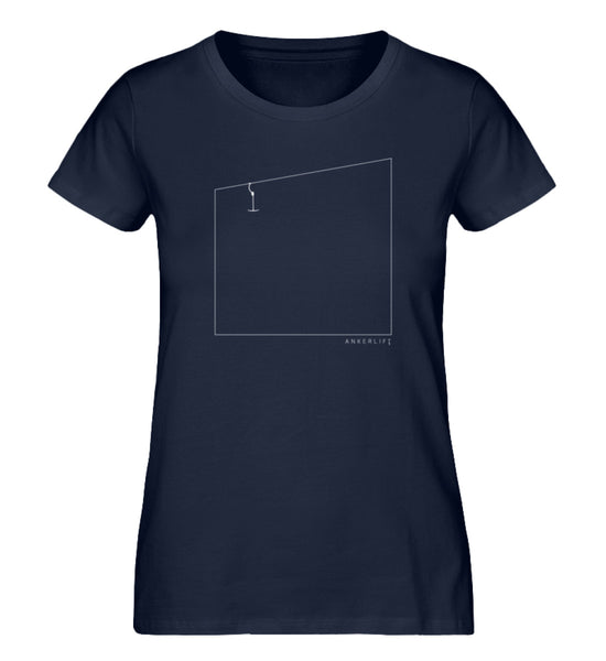 """Quadrat"" Damen Organic Shirt in der Farbe French Navy - ANKERLIFT"