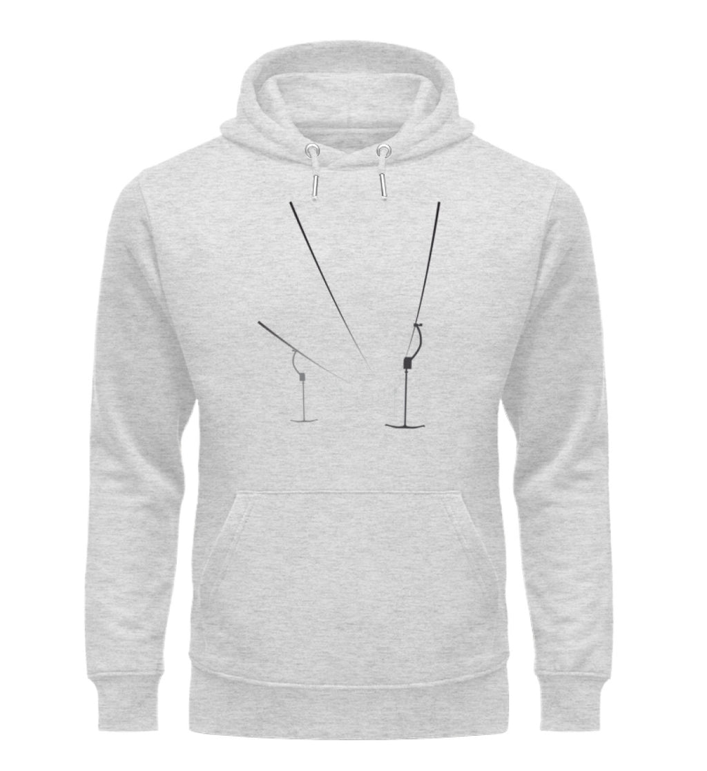 """Nebel"" Unisex Organic Hoodie in Farbe Heather Grey-ANKERLIFT"