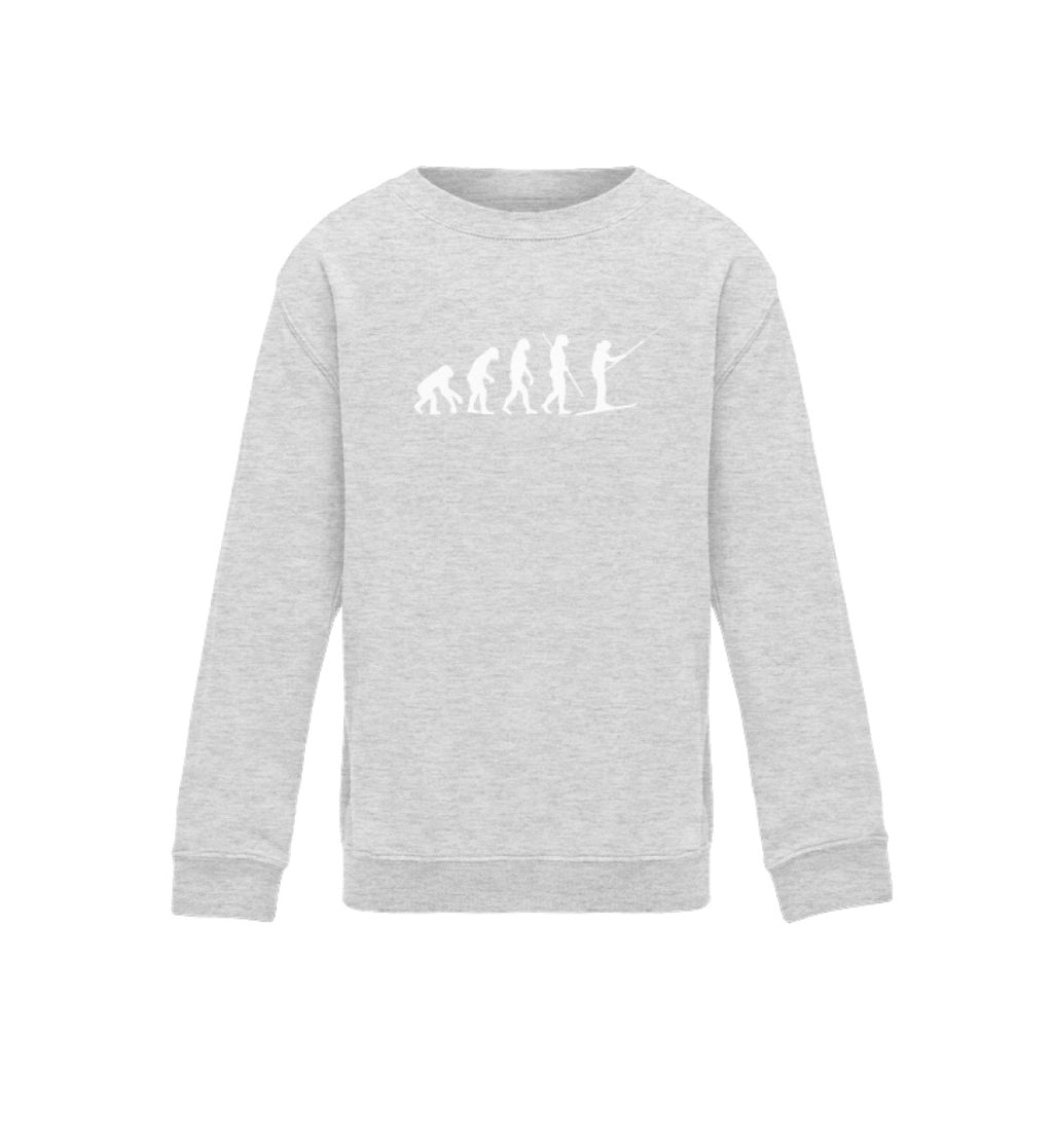 """Evolution"" Kinder Sweatshirt in der Farbe Heather Grey von ANKERLIFT"