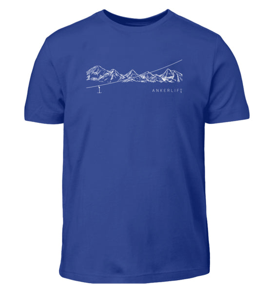 """Bergkette"" Kinder T-Shirt in der Farbe Royal Blue von ANKERLIFT"