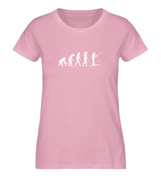"""Evolution"" Damen Organic Shirt in der Farbe Cotton Pink - ANKERLIFT"