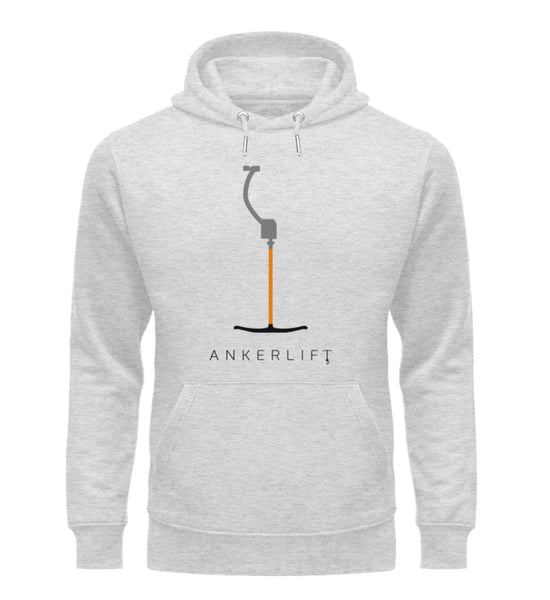 """ANKERLIFT"" Unisex Organic Hoodie in Farbe Heather Grey-ANKERLIFT"