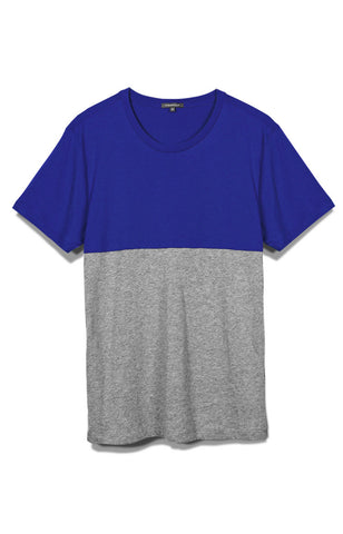 MENS SS COLOR BLOCK CREW