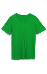 MENS SS POCKET V NECK