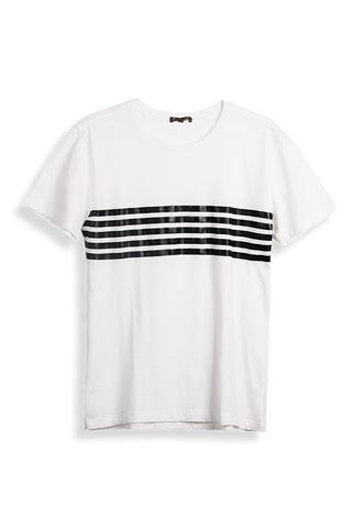 MEN'S SS CHEST STRIPE CREW