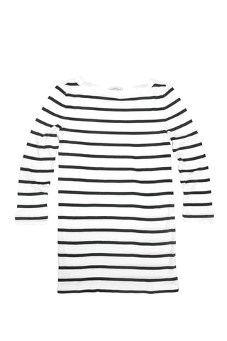 STRIPED WOMEN'S 3/4 BATEAU