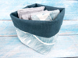 Washable face pads with matching basket