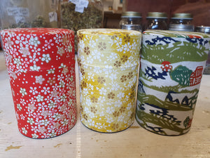 Japanese Washi Tea Canister Tall100