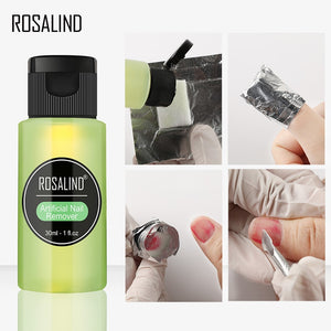 ROSALIND 1PC Removes Excess Gel Enhance Shine Sticky Remover Nail Polish UV Gel Sticky Remover Nail Art