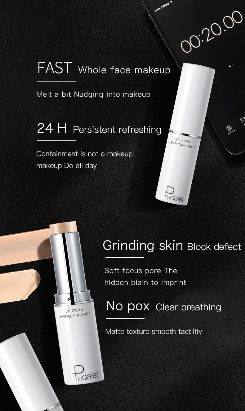 Pudaier New Highlighter Face Concealer Foundation Cream Make Up Corrector Stick Cover Dark Circle Professional Pencil Concealer