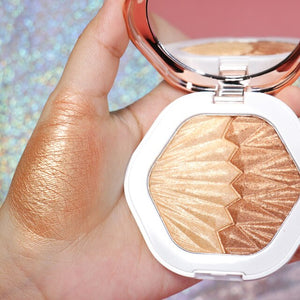 O.TWO.O Shell Highlighter Makeup For Body Face Radiance Long Lasting Fluorescence Contouring Highlighters Powder Palette Bronzer
