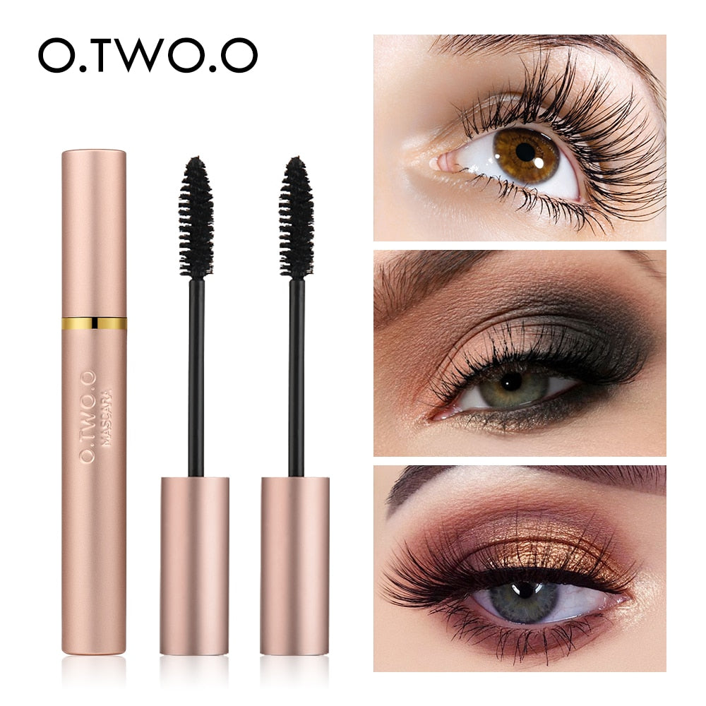 O.TWO.O 3D Fiber Lashes Thick Lengthening Mascara Long Black Lash Eyelash Extension Eye Lashes Brush Makeup Pro Eye-Cosmetics
