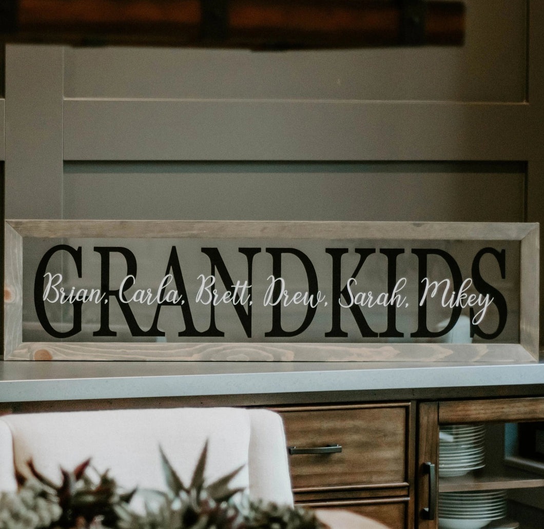 Grandkids Names Custom
