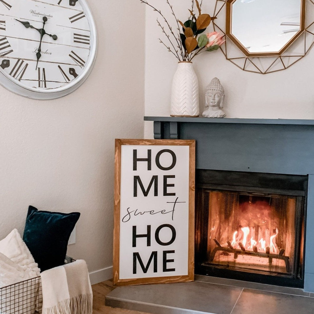 Home Sweet Home Vertical Sign