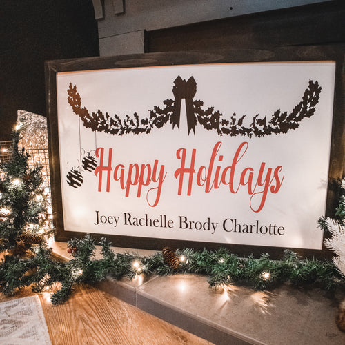 Happy Holidays Custom Sign
