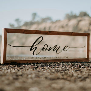 Home with coordinates-signs-sacramento-california