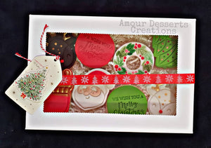 Fondant Christmas Cookies by Amour Desserts Delivery