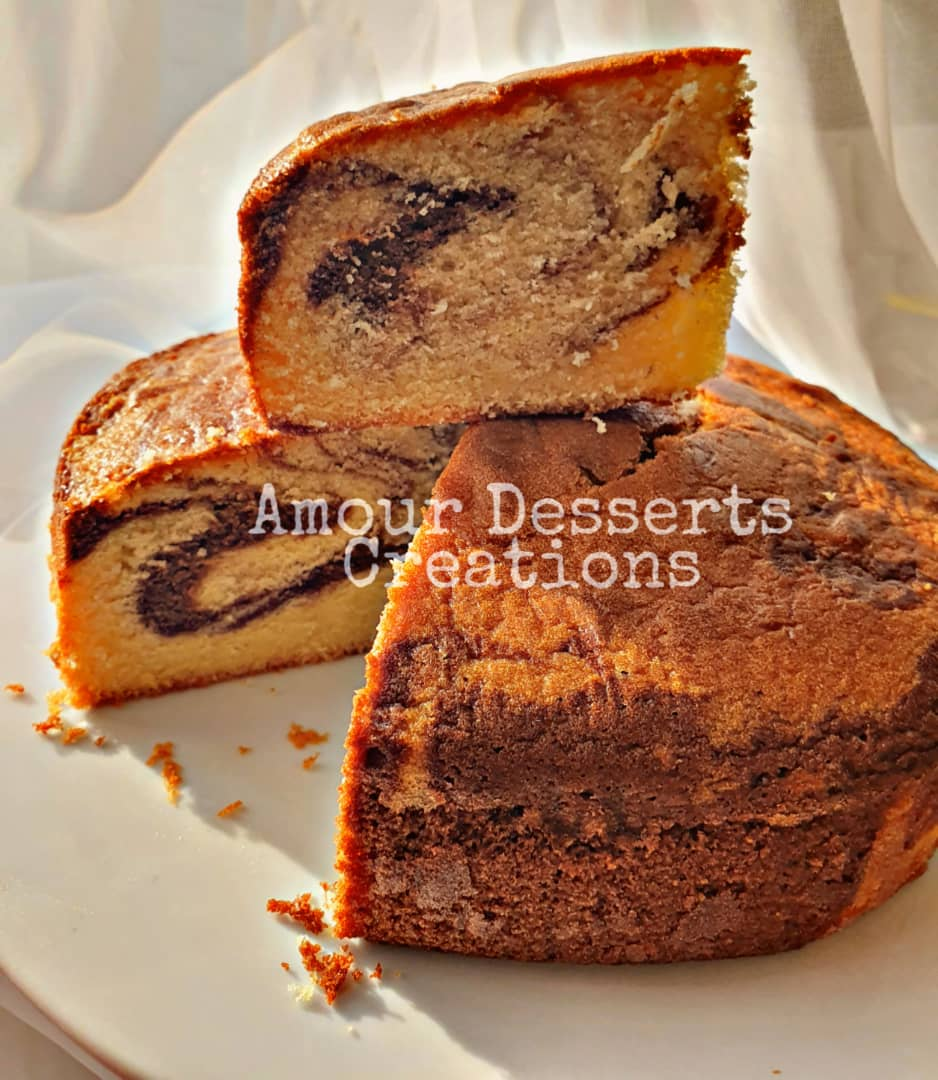Traditional Marble Butter Cake