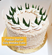 Load image into Gallery viewer, Pandan Gula Melaka Durian Cake by Amour Desserts Melbourne Delivery
