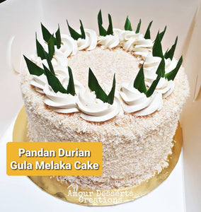 Pandan Gula Melaka Durian Cake by Amour Desserts Melbourne Delivery