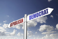 Republican & Democrat directional sign