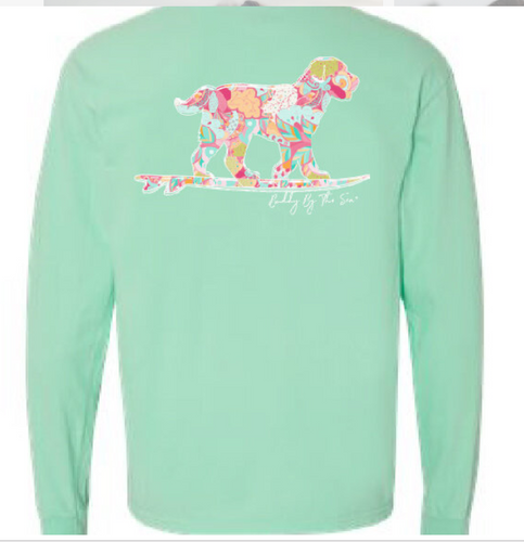 Buddy by the Sea - Seaside Floral Long Sleeve Island Reef