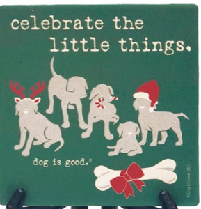 Dog is Good - Celebrate the Little Things Coaster