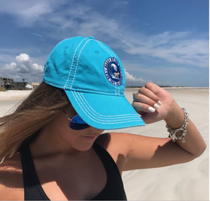 Buddy by the Sea - Maui Blue Logo Baseball Cap