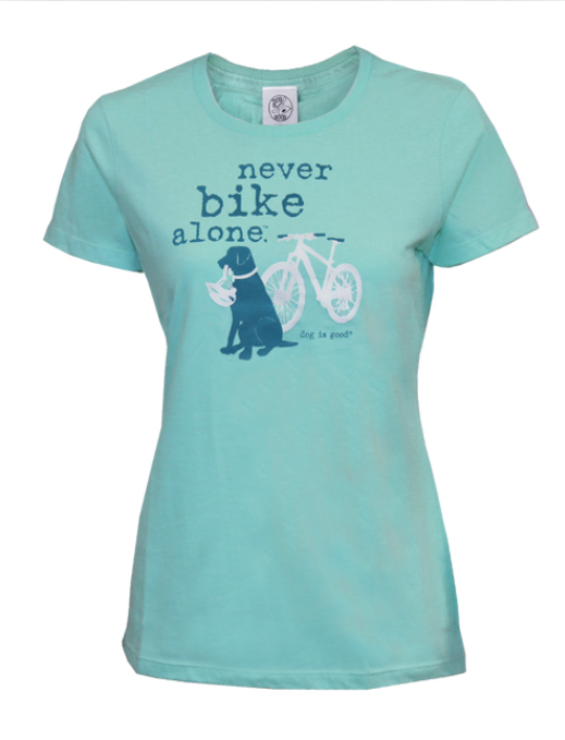 Dog is Good - Never Bike Alone Women's Short Sleeve Tee