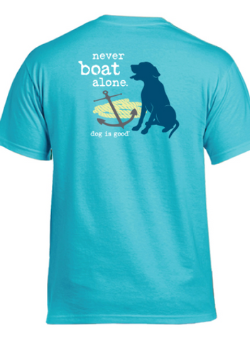 Dog Is Good - Never Boat Alone Unisex Short Sleeve Tee Shirt