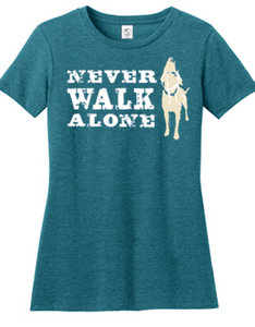 Dog Is Good - Never Walk Alone Women's Teal Short Sleeve Tee