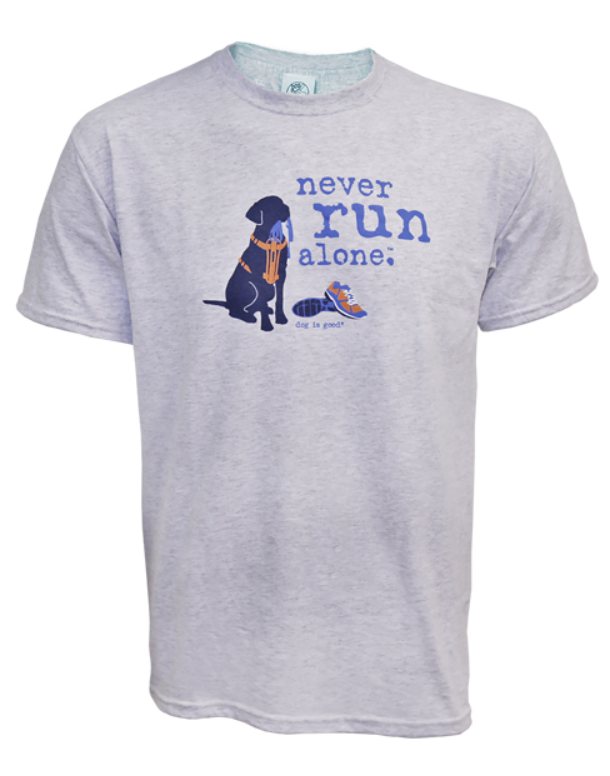 Dog is Good - Never Run Alone Unisex Short Sleeve Tee