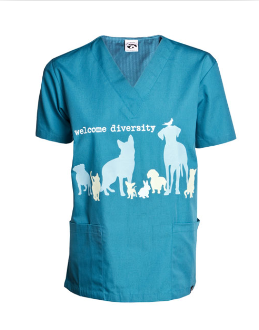 Dog Is Good - Welcome Diversity Scrub Teal