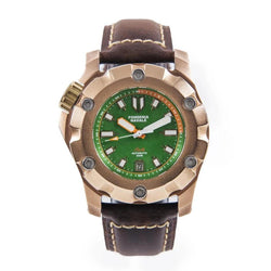 Fonderia Navale Stella Green | 44mm Bronze Watch - PONTVS Watch Co.