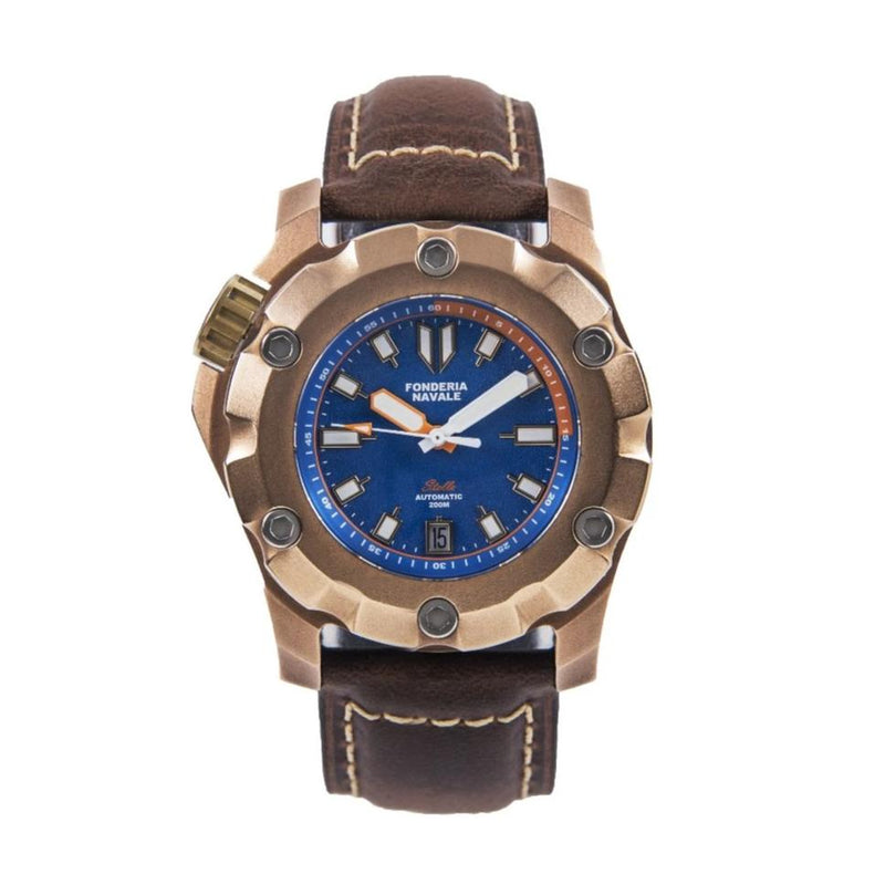 Fonderia Navale Stella Blue | 44mm Bronze Watch - PONTVS Watch Co.