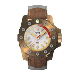 Pontvs Acheron White Seashell | 44mm Bronze Dive Watch for Men - PONTVS Watch Co.