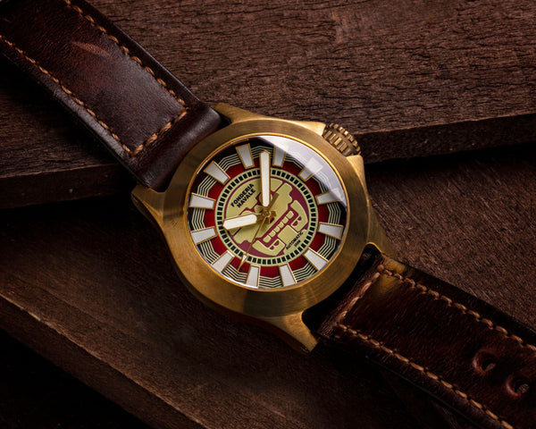 Fonderia Navale Mitclan Red | 42mm Bronze Sports Watch